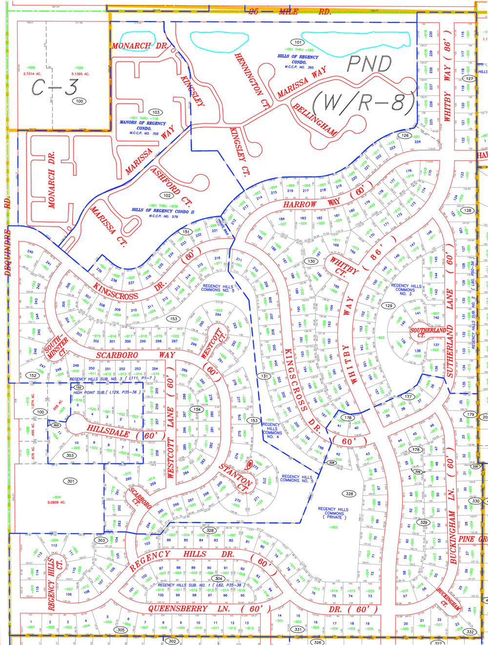 Regency Hills Map
